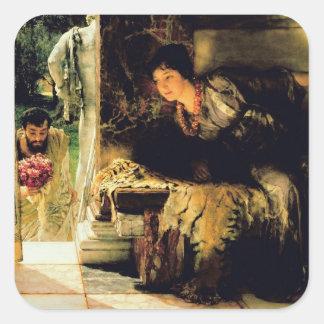 Alma-Tadema | willkommene Schritte, 1883 Quadratischer Aufkleber