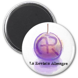 Almagre Bericht-Monogramm 1 Runder Magnet 5,7 Cm