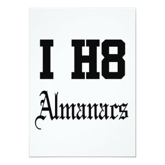 Almanache 12,7 X 17,8 Cm Einladungskarte