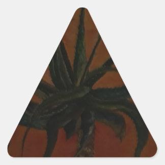 Aloe Dreieckiger Aufkleber