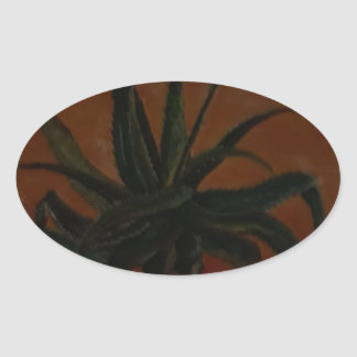 Aloe Ovaler Aufkleber