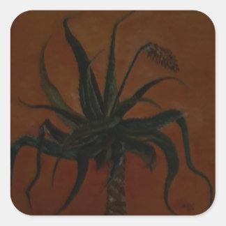 Aloe Quadratischer Aufkleber
