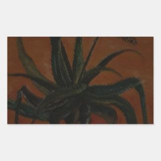 Aloe Rechteckiger Aufkleber