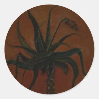 Aloe Runder Aufkleber