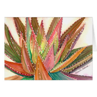 Aloe Watercolor-Grußkarte durch Debra-Lee Baldwin Karte
