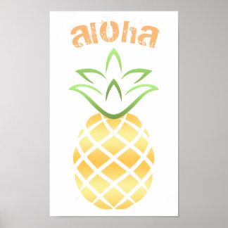 Aloha Ananas-Plakat-Zeichen Poster