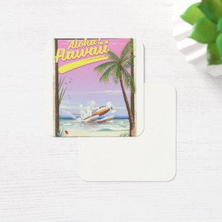 Aloha! Art-Reiseplakat Hawaiis Vintages Quadratische Visitenkarte