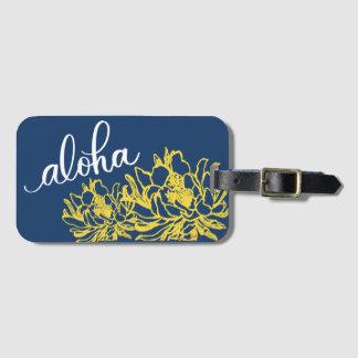 Aloha blaue gelbe kofferanhänger