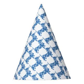 Aloha-Dackel-Blau Partyhütchen