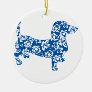 Aloha Dackel-Dackel Keramik Ornament