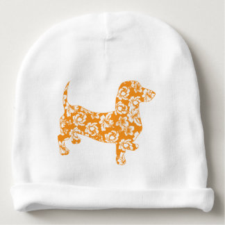 Aloha-Dackel-Orange Babymütze
