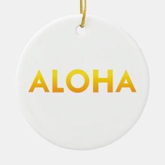 ALOHA Druck Mauis Hawaii Keramik Ornament