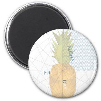 Aloha Freitag Runder Magnet 5,1 Cm