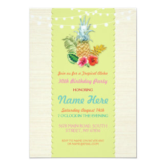 Aloha Geburtstags-Party Luau Aloha laden Ananas 12,7 X 17,8 Cm Einladungskarte