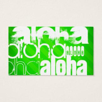 Aloha; Grüne Neonstreifen Visitenkarte