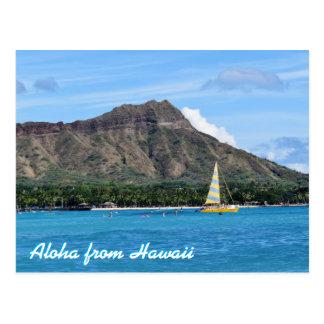 Aloha HauptWaikiki Strand-Ozean Hawaiis Duamond Postkarte