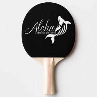Aloha Hawaii-Insel-Wal Tischtennis Schläger