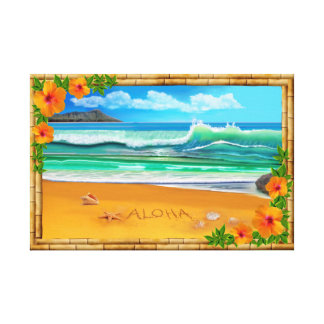 Aloha Hawaii Leinwanddruck