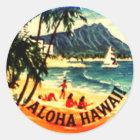 Aloha Hawaii Runder Aufkleber
