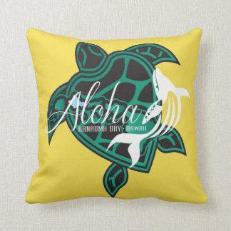Aloha Hawaii-Schildkröte-Inseln und Wal Kissen