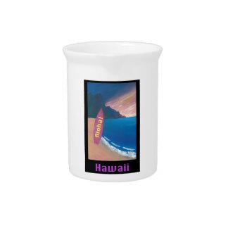 Aloha Hawaii-Surfer-Retro Plakat Krug