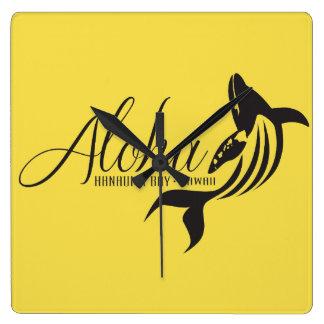 Aloha Hawaii-Wal Quadratische Wanduhr