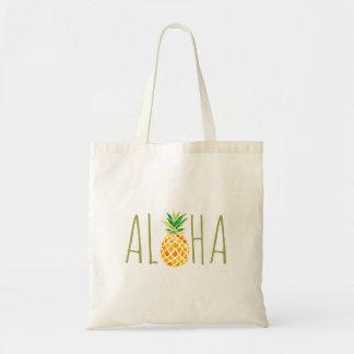 aloha hawaiische tropische Ananas Tragetasche
