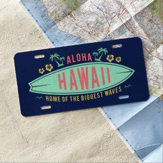 Aloha hawaiisches Surfer-Kfz-Kennzeichen US Nummernschild