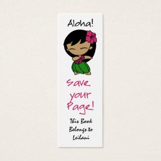 Aloha Honig-dünnes Lesezeichen Mini Visitenkarte