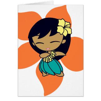 """Aloha Honig-"" Gruß-Karten in der Papaya Karte"