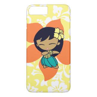 Aloha Honig hawaiisches gelbes Pareau Hula Mädchen iPhone 8 Plus/7 Plus Hülle