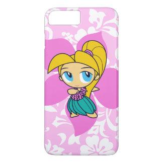 Aloha Honig hawaiisches rosa Pareau Hula Mädchen iPhone 8 Plus/7 Plus Hülle