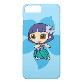 Aloha Honig hawaiisches Turq Hibiskus Hula Mädchen iPhone 8 Plus/7 Plus Hülle