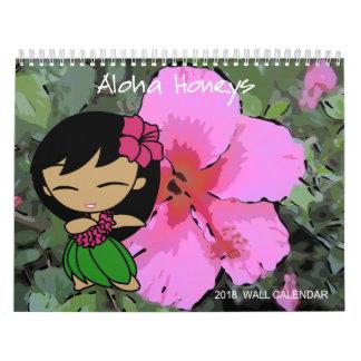 Aloha Honig Hula Mädchen-Blumenkalender 2018 Kalender