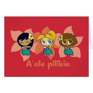 """Aloha Honig"" hula Mädchenkarten im Rot Karte"
