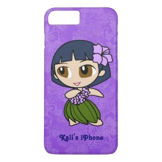 Aloha Honig lila Hula Mädchen-Hawaiianer-Hibiskus iPhone 8 Plus/7 Plus Hülle