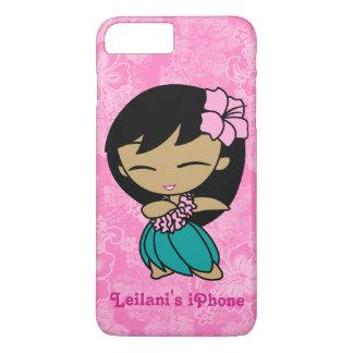 Aloha Honig rosa Hula Mädchen-Hawaiianer-Hibiskus iPhone 8 Plus/7 Plus Hülle