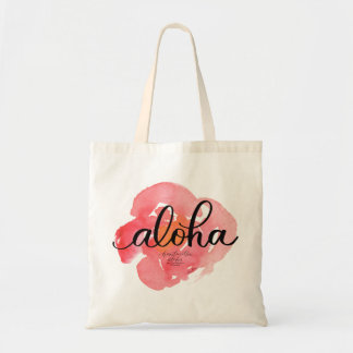 Aloha Pretty Abstract Floral Tote Bag