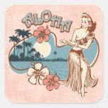Aloha Hula Mädchen-Aufkleber