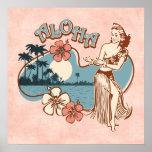 Aloha Hula Mädchen-Druck Plakatdrucke