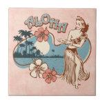 Aloha Hula Mädchen-Fliese