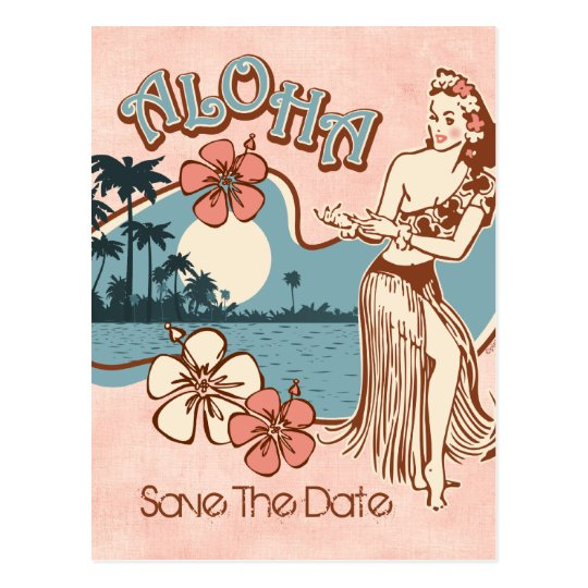 Aloha Hula Mädchen Geschlechtskrankheits-Postkarte Postkarte