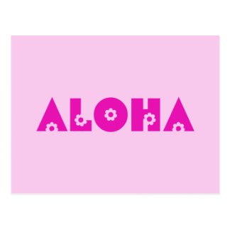 Aloha im Rosa Postkarte