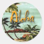Aloha Insel Runder Aufkleber