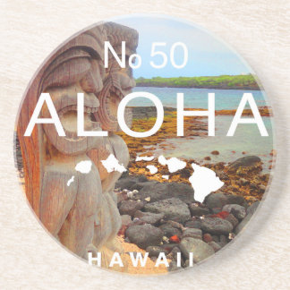 Aloha keine 50 Tiki Getränkeuntersetzer