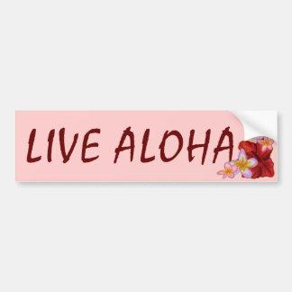Aloha leben Rosahawaiischer BlumenAutoaufkleber Autoaufkleber