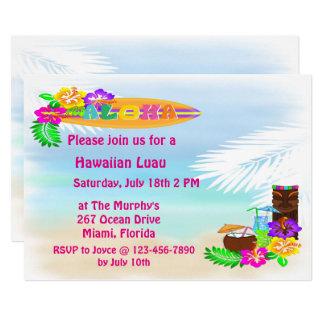 Aloha Luau Einladungen