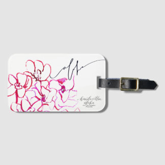 Aloha Orchid Flower Luggage Tag