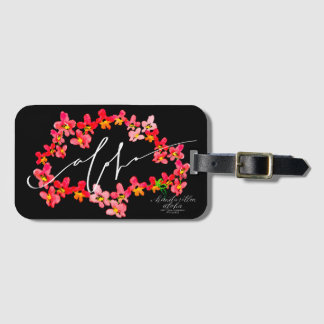 Aloha Orchid Lei Luggage Tags Gepäckanhänger