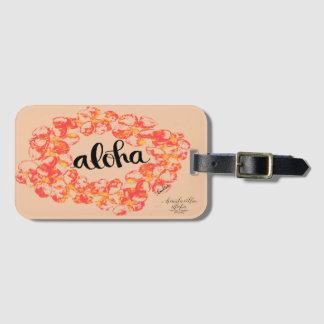 Aloha Plumeria-Gepäckanhänger - Orange Kofferanhänger